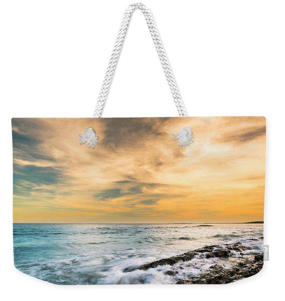 Maine Rocky Coastal Sunset Weekender Tote Bag