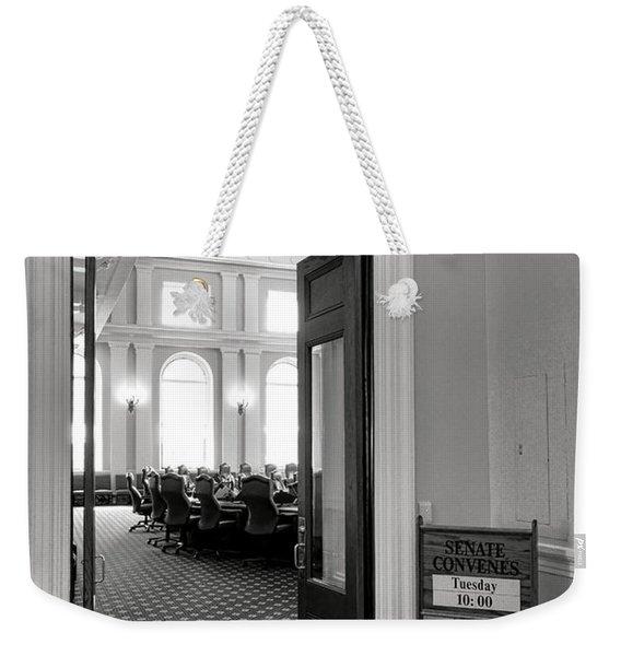 Maine Senate Chamber Doorway Weekender Tote Bag