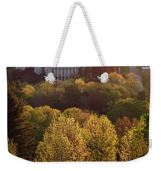 Maine State Capitol At Sunset Weekender Tote Bag
