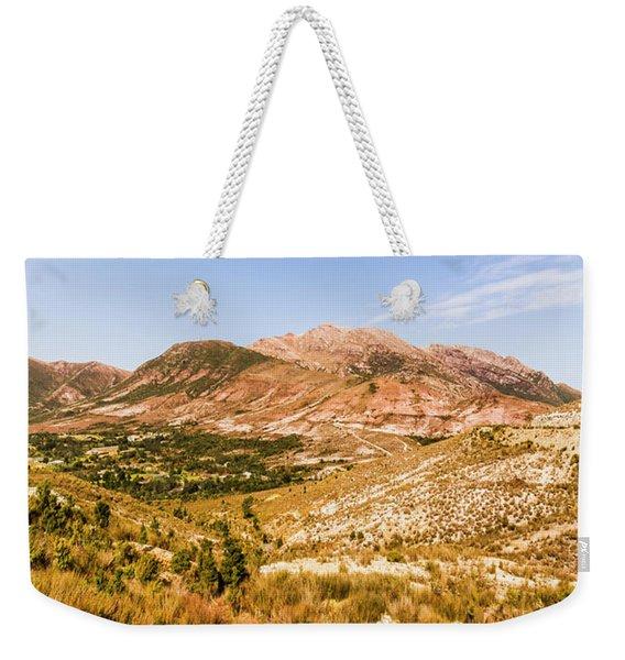 Majestic Arid Peaks Weekender Tote Bag
