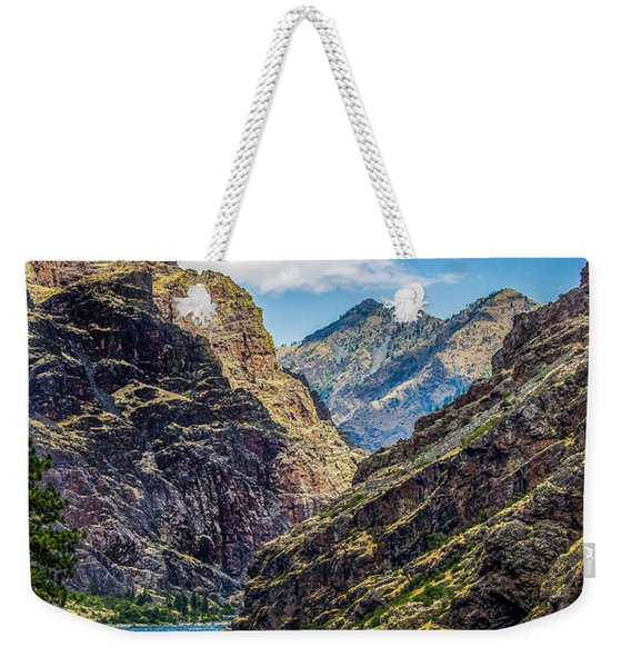 Majestic Hells Canyon Idaho Landscape By Kaylyn Franks Weekender Tote Bag