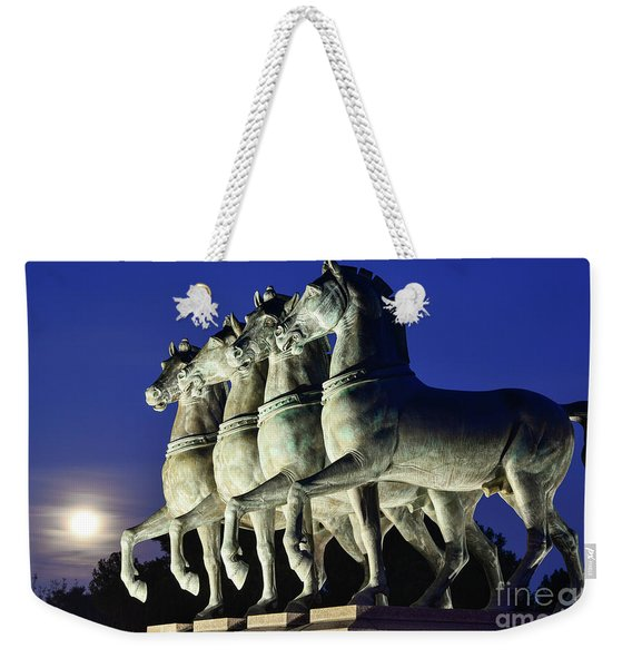 Majestic Horses In The Light Of The Moon Weekender Tote Bag