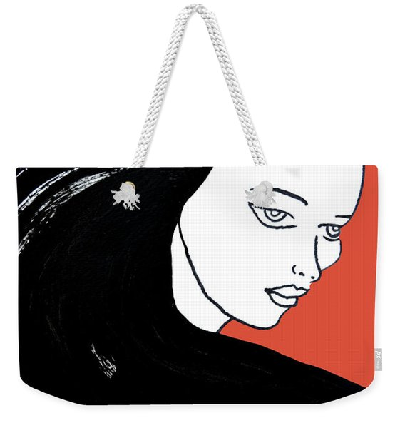 Majestic Lady J0715j Tangerine Tango Orange Pastel Painting 17-1463  E1523d F0532a Weekender Tote Bag