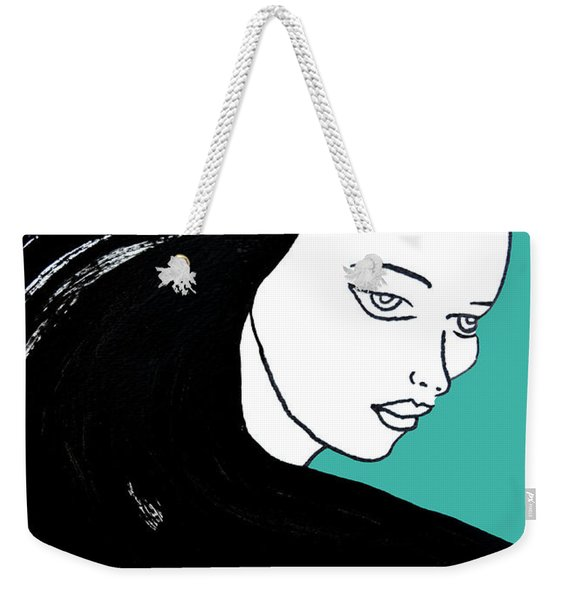 Majestic Lady J0715k Turquoise Green Pastel Painting 15-5519 41b6ab Weekender Tote Bag