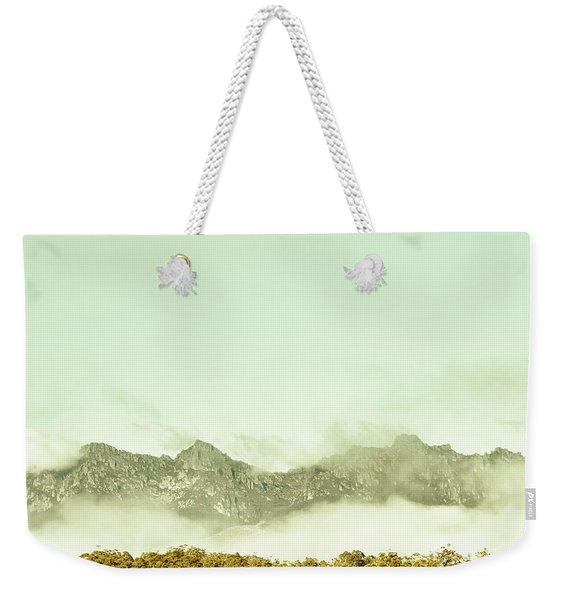Majestic Misty Mountains Weekender Tote Bag