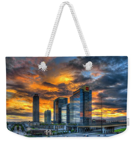 Midtown Majestic Reflections Atlanta Sunset Cityscape Art Weekender Tote Bag