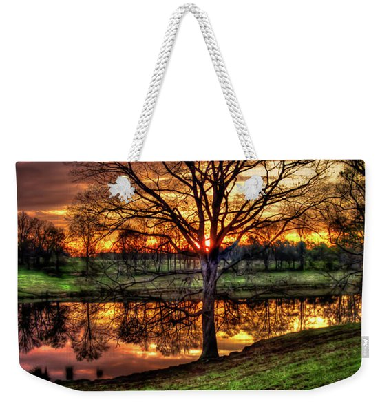 Majestic Sunrise Reflections Art Weekender Tote Bag