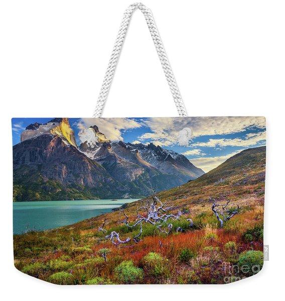 Majestic Torres Del Paine Weekender Tote Bag