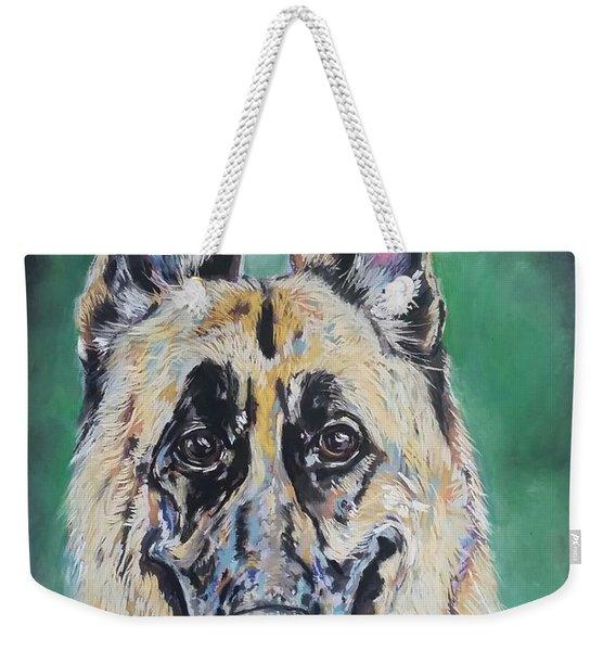 Major, The German Shepherd  Weekender Tote Bag