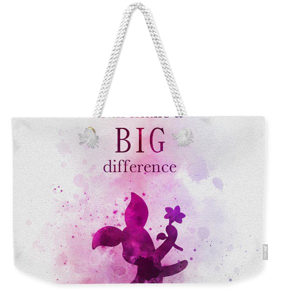 Make A Big Difference Weekender Tote Bag