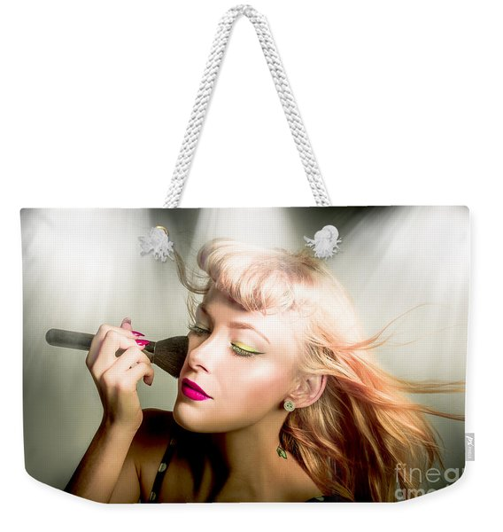 Make-up Brush Pinup Weekender Tote Bag