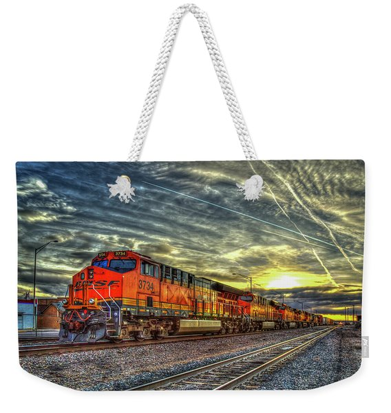 Make Way Resting B N S F Train Gallup New Mexico Art Weekender Tote Bag