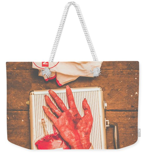 Make Your Own Frankenstein Medical Kit  Weekender Tote Bag
