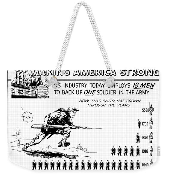 Making America Strong Cartoon Weekender Tote Bag
