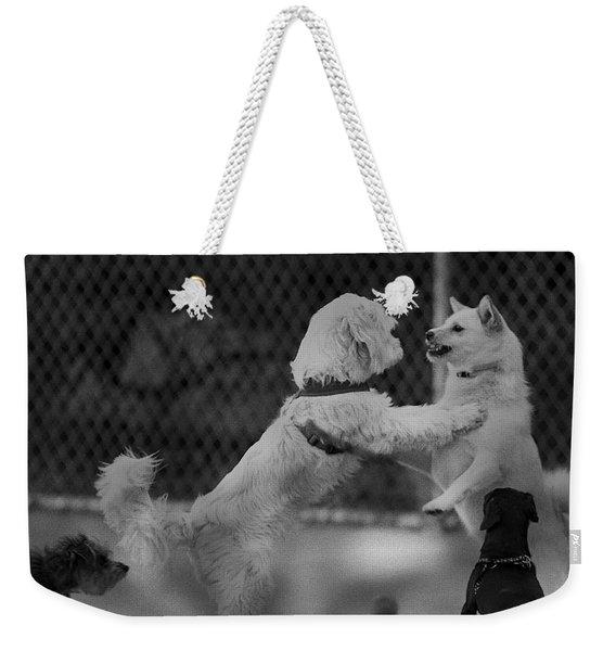 Making Friends Weekender Tote Bag