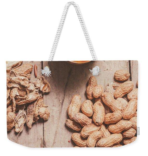 Making Peanut Butter Weekender Tote Bag