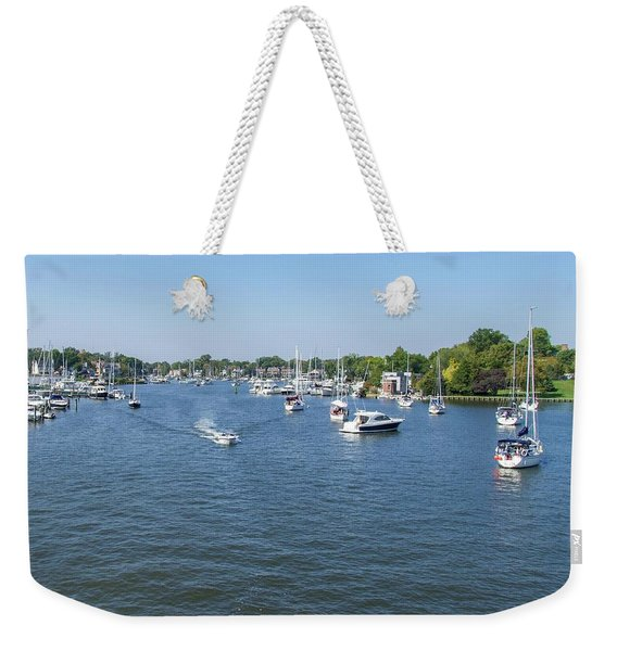 Making Way Down Spa Creek Weekender Tote Bag