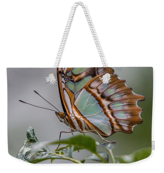 Malachite Butterfly Profile Weekender Tote Bag