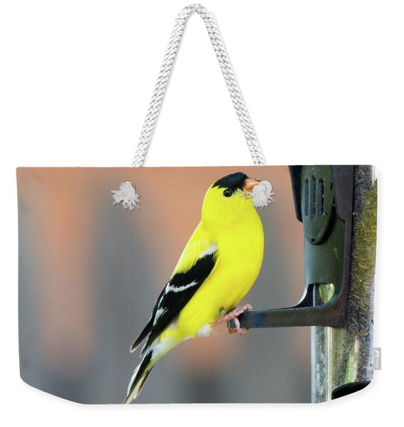 Male American Goldfinch Weekender Tote Bag