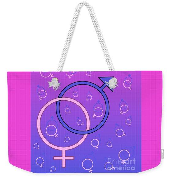 Male And Female Gender Symbols Weekender Tote Bag