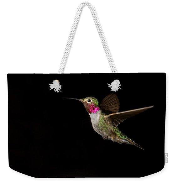 Male Broad-tailed Hummingbird Weekender Tote Bag