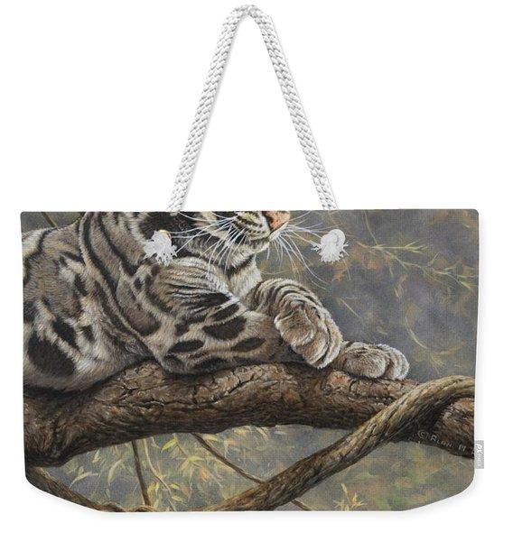 Male Clouded Leopard Weekender Tote Bag