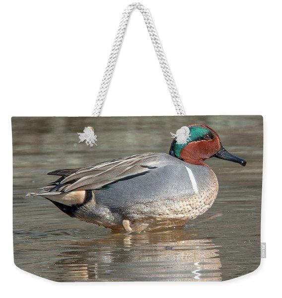 Male Green-winged Teal Dwf0171 Weekender Tote Bag