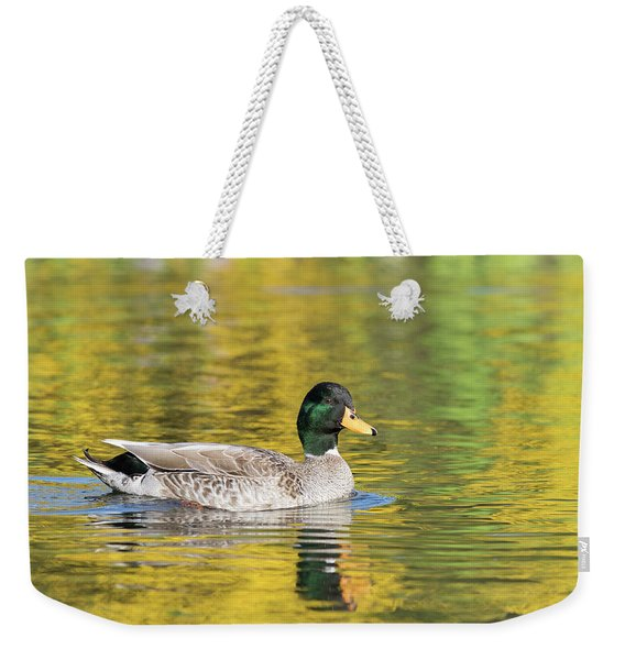 Mallard In Yellow Weekender Tote Bag