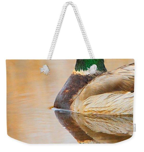 Mallard Mirror Weekender Tote Bag