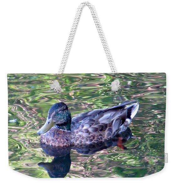Mallard Monet Weekender Tote Bag
