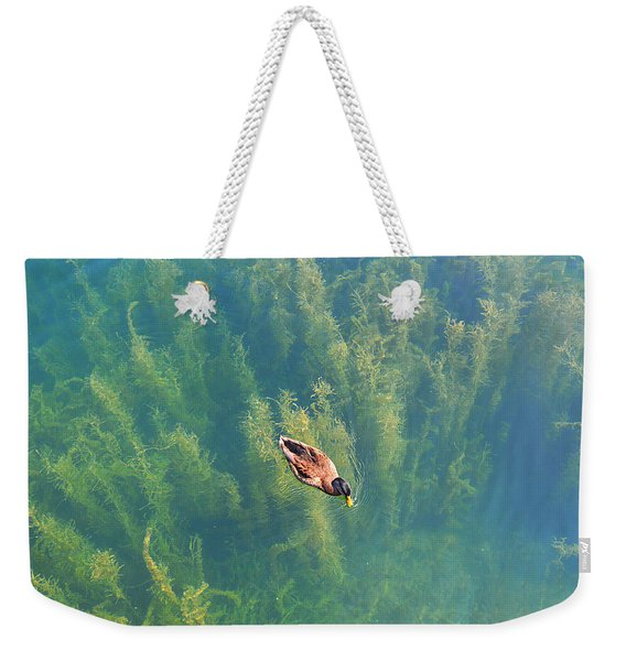Mallard Over Seaweed Weekender Tote Bag