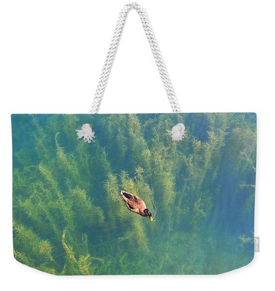 Mallard Over Seaweed Weekender Tote Bag