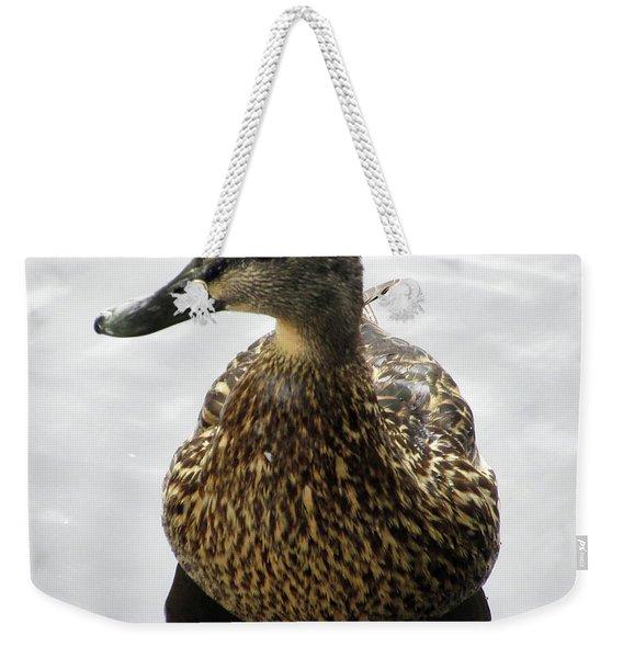 Mallard Profile Weekender Tote Bag