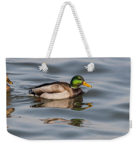 Mallards And Reflection Weekender Tote Bag