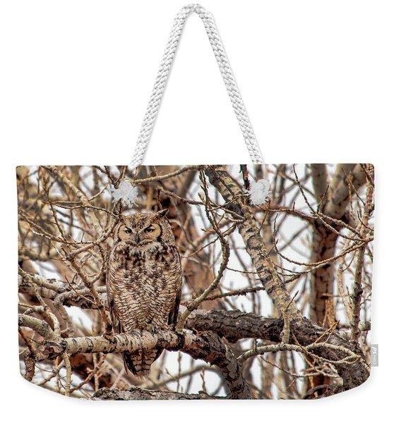 Mama Owl In Camo Weekender Tote Bag