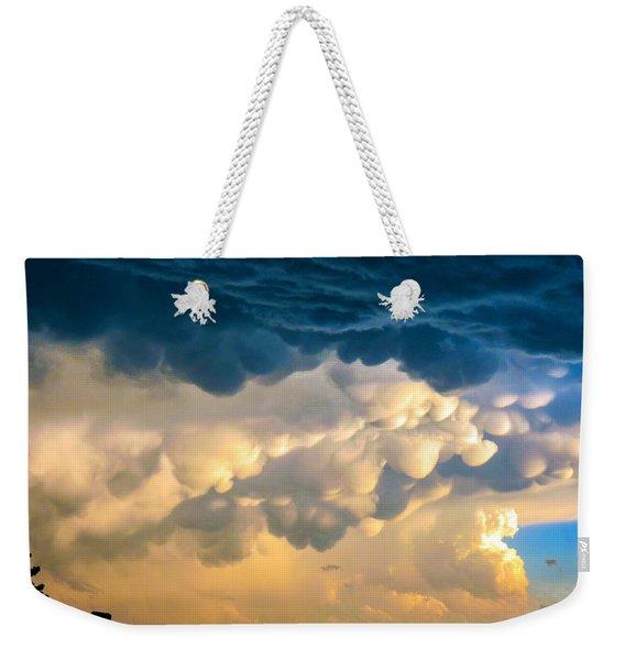 Mammatus Clouds At Sunset Weekender Tote Bag