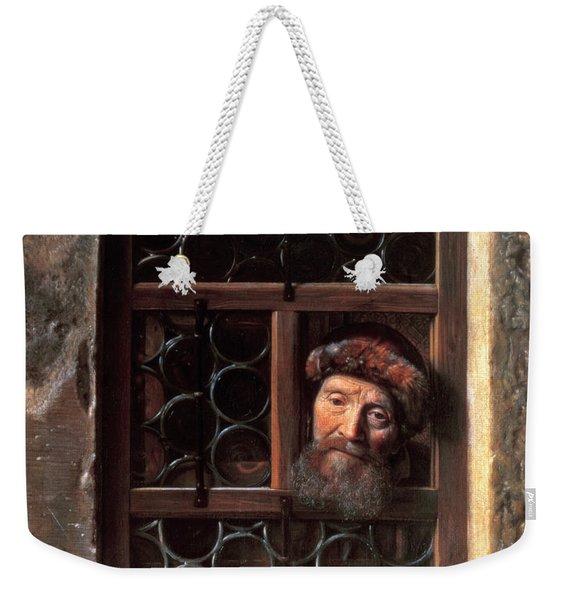 Man At A Window Weekender Tote Bag