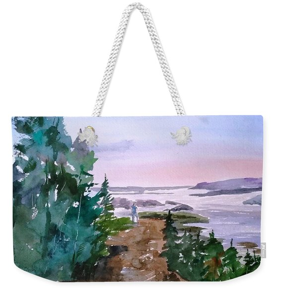 Man At Fraser Lake Bc Weekender Tote Bag
