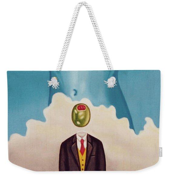 Man Dreaming Of Woman Weekender Tote Bag