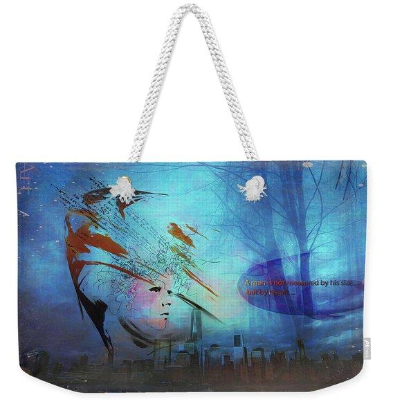 Man Is Art Weekender Tote Bag