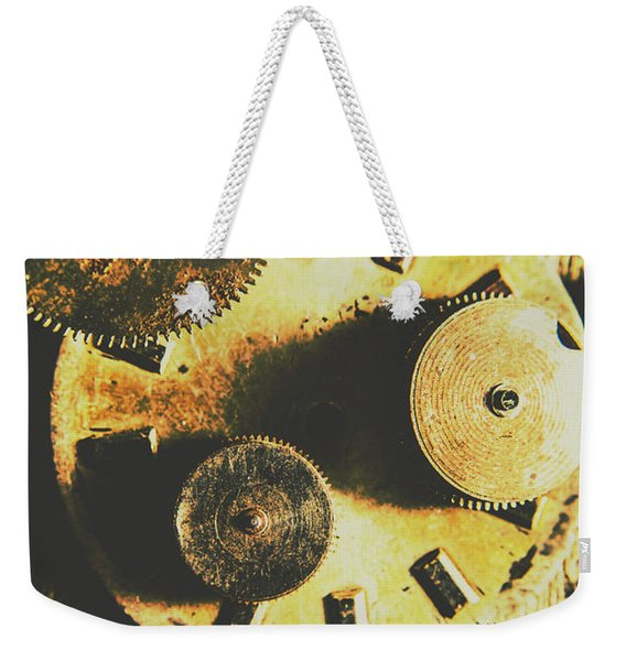 Man Made Time Weekender Tote Bag