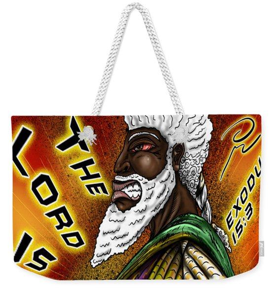 Man Of War Poster Design Weekender Tote Bag