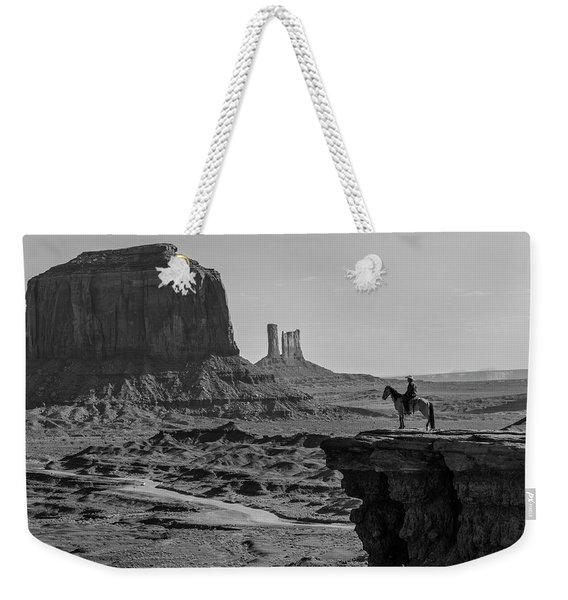 Man On Horse Monument Valley Weekender Tote Bag