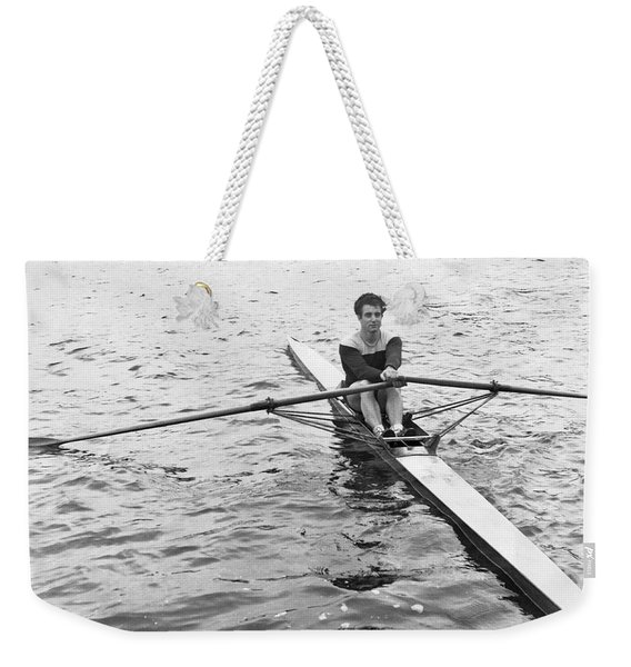 Man Rowing A Scull Weekender Tote Bag