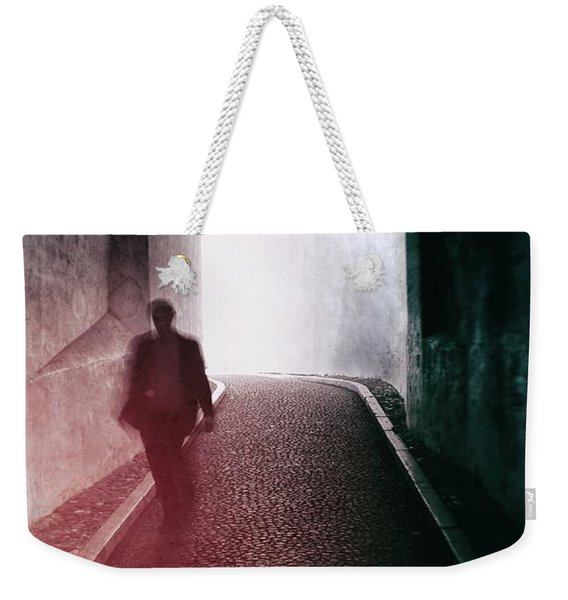 Man Walking Through A Tunnel Weekender Tote Bag