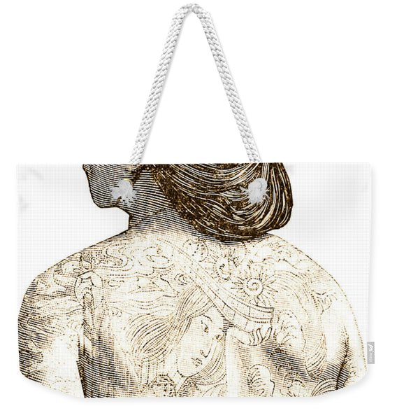 Man With Traditional Japanese Irezumi Tattoos Weekender Tote Bag