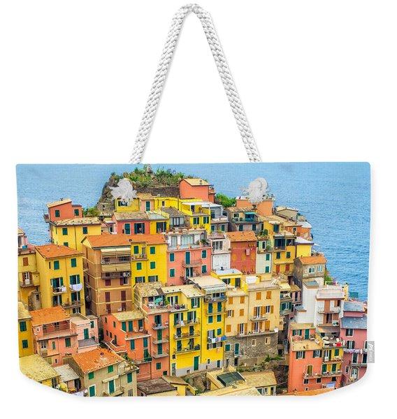 Manarola Cinque Terra City Weekender Tote Bag