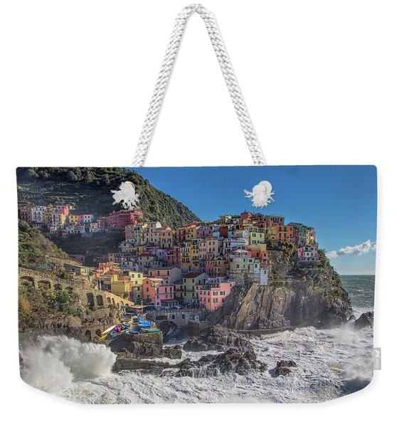 Manarola In Cinque Terre  Weekender Tote Bag