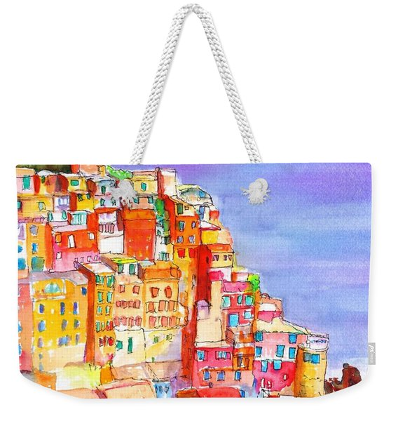 Manarola In The Cinque Terre Italy Weekender Tote Bag