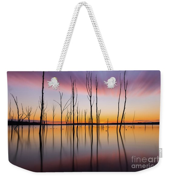 Manasquan Reservoir Long Exposure Weekender Tote Bag